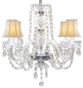Jet Black Murano Venetian Style All Crystal Mini Chandelier
