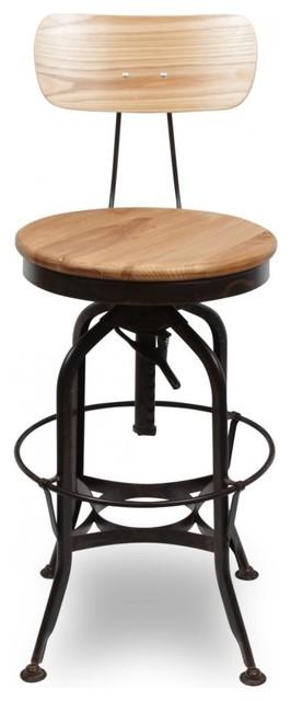 Toledo Coffee Rust Stool With Round Seat 62cm