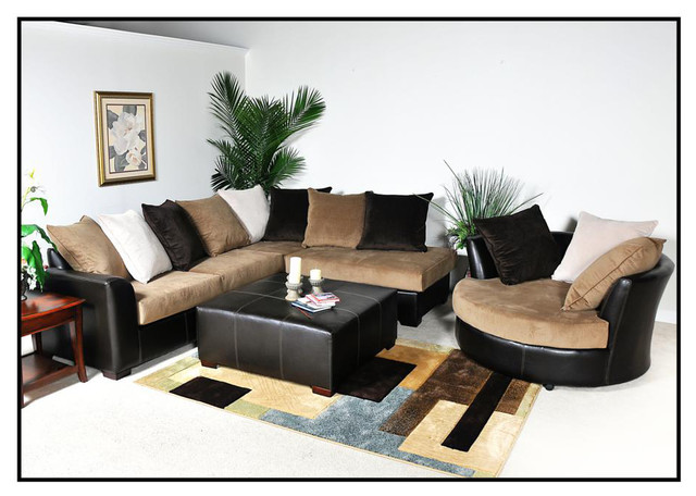 Chelsea home domino 3 piece living room set in san marino for Living room furniture pieces