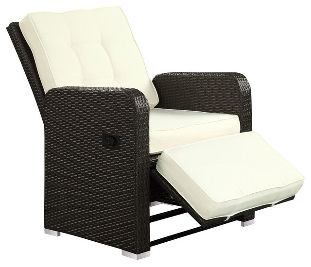 modern contemporary outdoor patio armchair recliner white rattan wicker contemporary outdoor. Black Bedroom Furniture Sets. Home Design Ideas