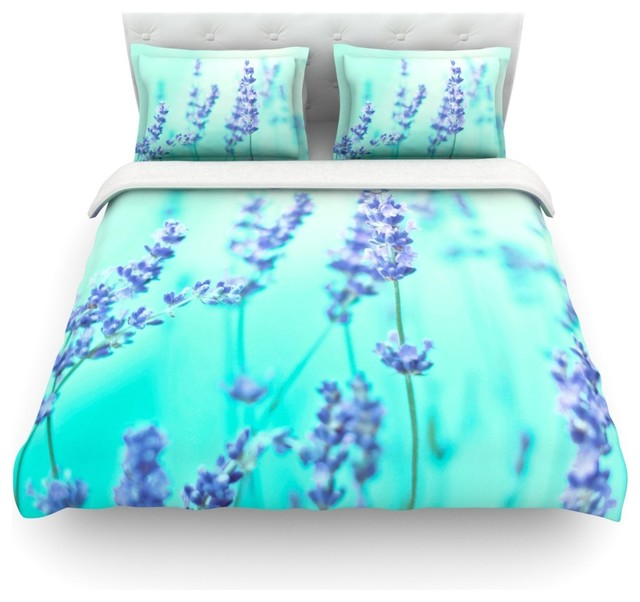 monika strigel mint lavender teal purple duvet cover cotton king contemporary duvet. Black Bedroom Furniture Sets. Home Design Ideas