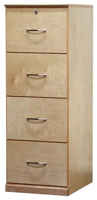 Flat Iron File Cabinet with Four Drawers, Unfinished - Modern - Filing Cabinets - by Gothic ...