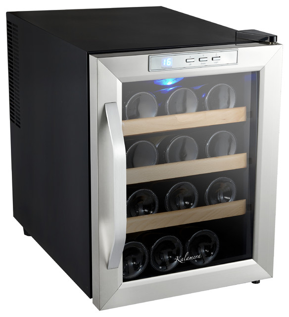 Kalamera 12 bottle small wine cooler thermoelectronic for Beer and wine cooler table