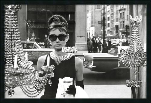 'Audrey Hepburn, Breakfast at Tiffany's' Framed Photo With Gel Coated Finish
