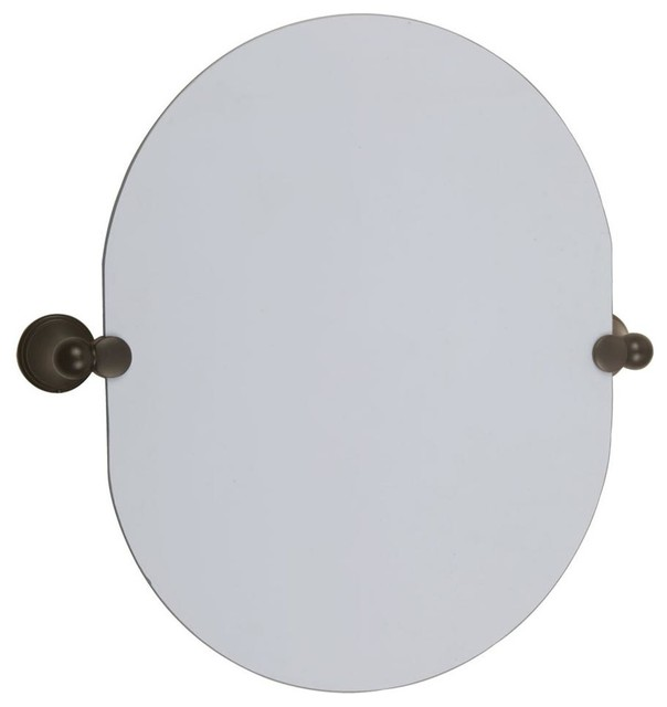 Oval Pivot Mirror In Oil Rubbed Bronze Finish