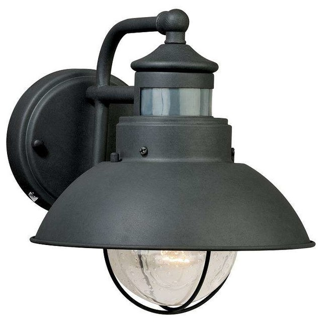 Vaxcel Lighting T0126 Harwich Outdoor Motion Sensor Wall Light Textured Gray