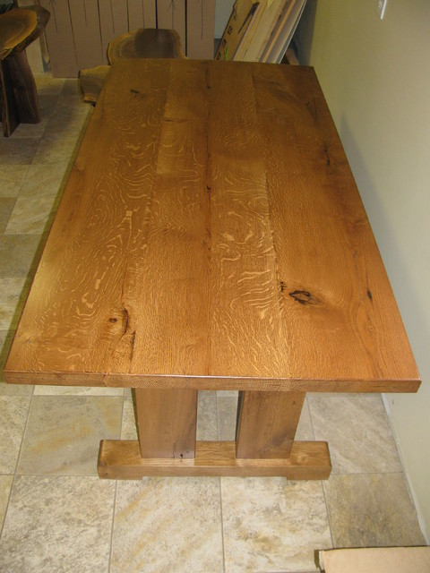 Quarter Sawn White Oak Table Farmhouse Dining Tables