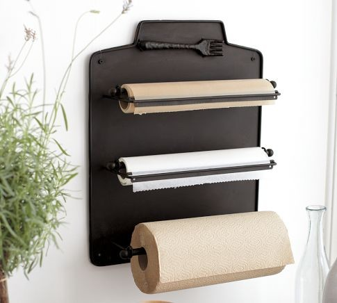 Cucina wall mount kitchen roll organizer traditional - Organizer cucina ...