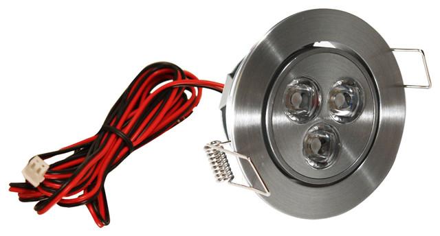 Led Mini Swivel Puck Light Satin Aluminum 3 75 Watts