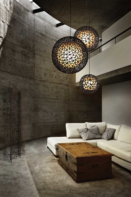living room lighting gallery contemporary pendant lighting other by lightology. Black Bedroom Furniture Sets. Home Design Ideas