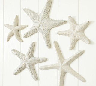 Carved Wood Starfish Tropical Artwork By Pottery Barn