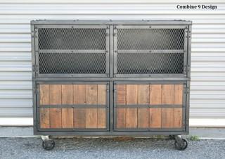 Vintage industrial/Mid Century Modern Bar Cart/Liquor ...