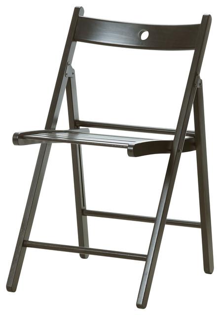 terje folding chair black bauhaus look klappst hle von ikea. Black Bedroom Furniture Sets. Home Design Ideas