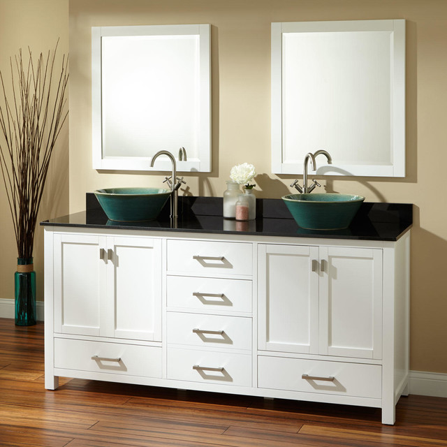 "72 Madison Double Vessel Sink Vanity: 72"" Modero Double Vessel Sink Vanity"