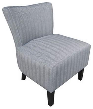 petit fauteuil volupte microfibre chevron gris contemporain fauteuil par inside75. Black Bedroom Furniture Sets. Home Design Ideas
