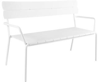 cabana banc avec dossier en aluminium bauhaus look. Black Bedroom Furniture Sets. Home Design Ideas