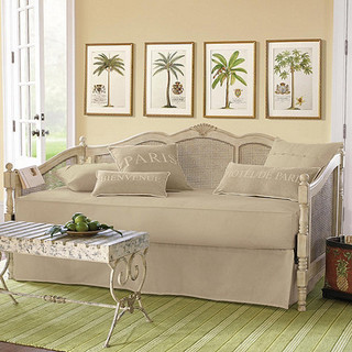Twin daybed mattress cover traditional indoor chaise for Ballard designs chaise lounge