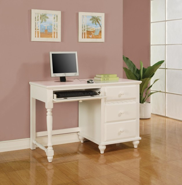 dominique white table desk with 2 drawers modern kids desks and desk sets other metro by. Black Bedroom Furniture Sets. Home Design Ideas