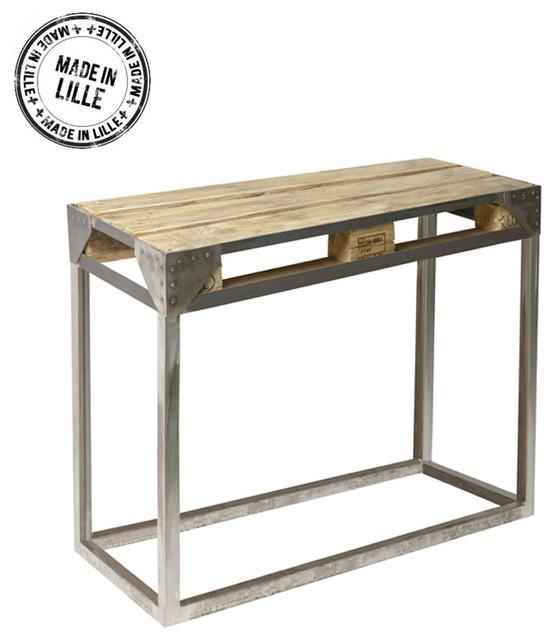 console palette et m tal bross cargo couleur marron industriel console par. Black Bedroom Furniture Sets. Home Design Ideas