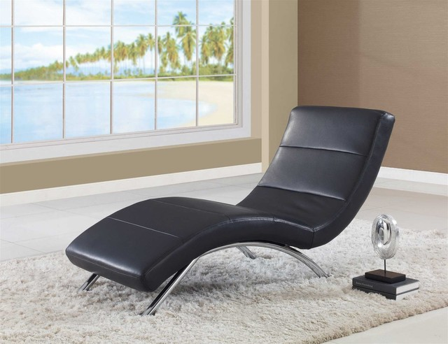 global furniture chaise black contemporary chaise. Black Bedroom Furniture Sets. Home Design Ideas