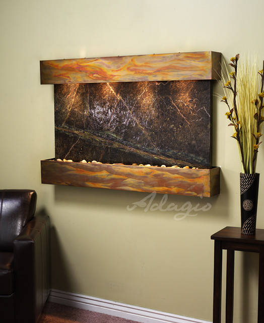 The sunrise springs wall water feature modern indoor - Modern indoor water feature ...