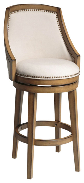 High Back 30 Quot Barstool With Soft Upholstered Swivel Seat