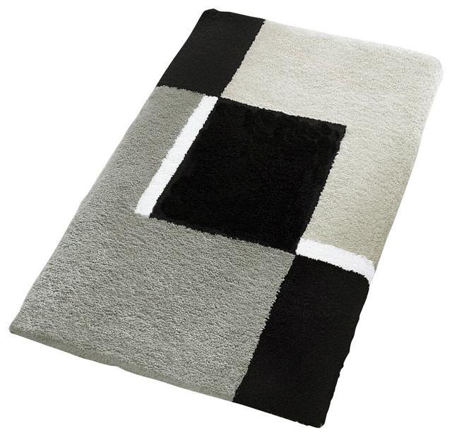 Oversized Bath Rug, Gray contemporary-bath-mats