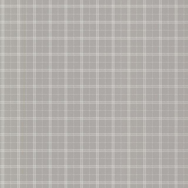 Meridian grey nautical plaid wallpaper transitional for Grey tartan wallpaper