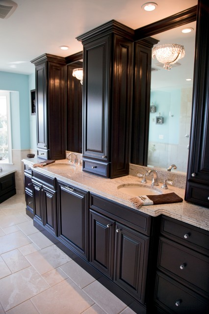 double sink vanity with center cabinet. Vanity Hutches Home Pinterest  Bathroom With No Linen Closet