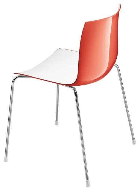catifa 46 stuhl zweifarbig wei rot bauhaus look. Black Bedroom Furniture Sets. Home Design Ideas