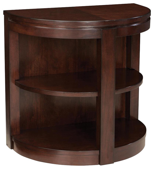 Standard Furniture Nova Half Moon Chairside Table in Dark  : traditional side tables and end tables from www.houzz.com size 584 x 640 jpeg 65kB