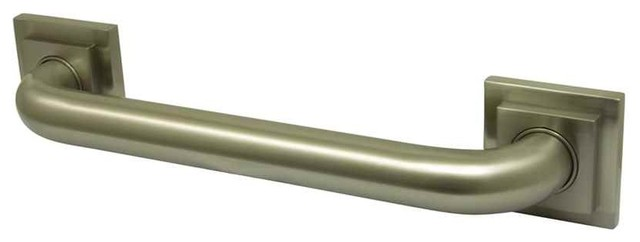 Contemporary Grab Bar in Satin Nickel Finish (12 in.) - Contemporary - Cabinet And Drawer Handle ...
