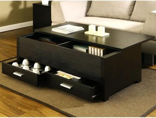 Garretson Storage Box Coffee Table Espresso Finish