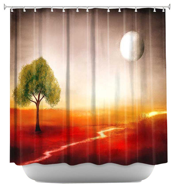 Shower curtain unique from dianoche designs bliss of for Weird shower curtains
