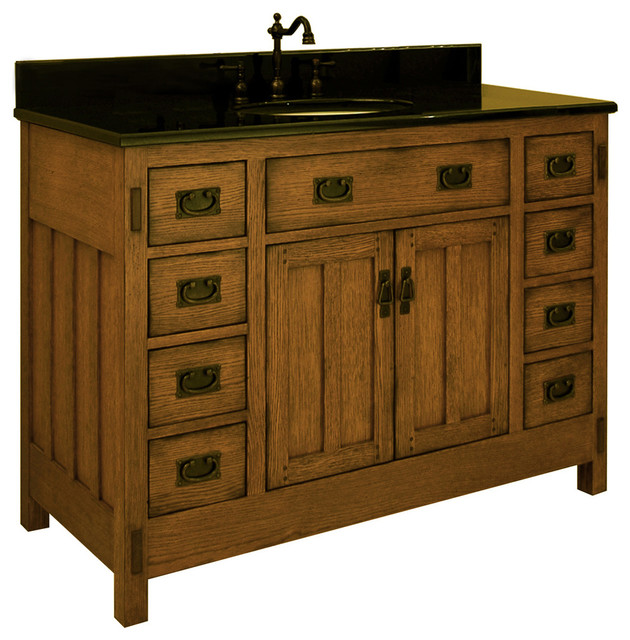 48 American Craftsman Single Bath Vanity Ac4821d Traditional Bathroom Vanities And Sink