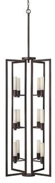 Open Frame Foyer Light : Fredrick ramond fr rco twelve light copper open frame