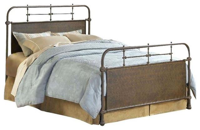 Hillsdale Furniture Kensington Bed Old Rust Full Industrial Panel