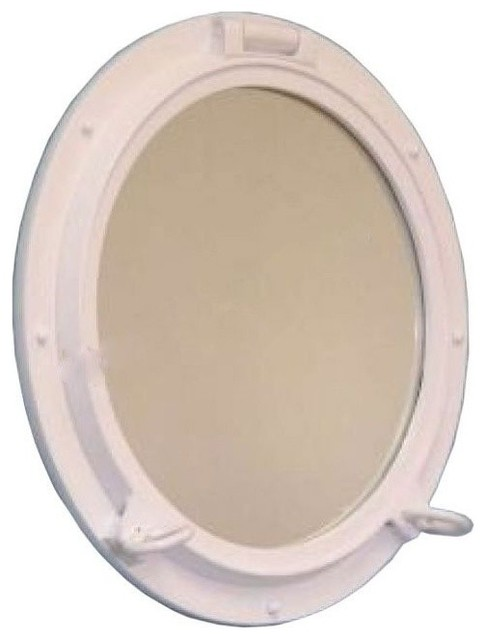 Porthole mirror bronzed 24 39 39 beach style wall for Porthole style mirror