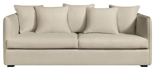 canap fixe neo chiquito toile coton lin bultex contemporain canap par am pm. Black Bedroom Furniture Sets. Home Design Ideas