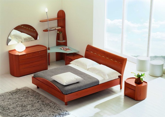 Made In Italy Wood Design Bedroom Furniture With Storage System Modern