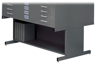 """Safco 20""""H Open Base for 4998 Flat File Cabinet - Transitional - Filing Cabinets - by Cymax"""