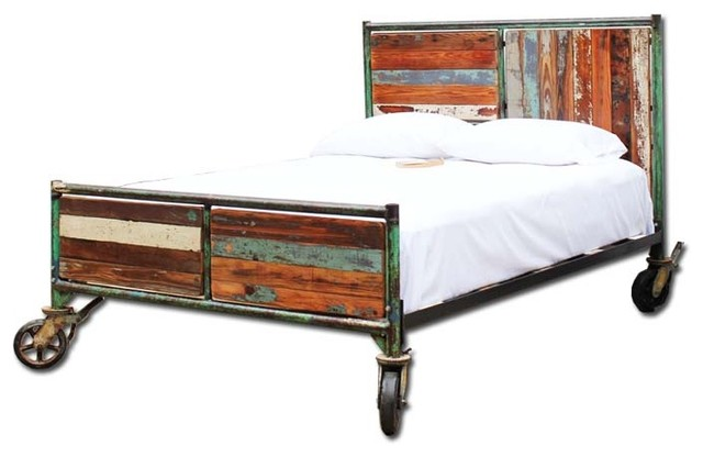 scaffold bed eclectic panel beds by tempered design. Black Bedroom Furniture Sets. Home Design Ideas