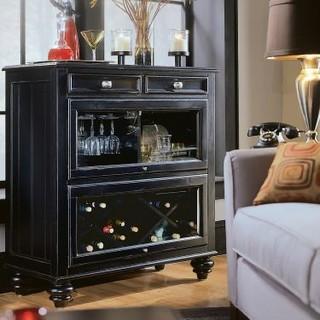 American Drew 919-589 Bookcase/Bar- RTA Feet Camden - Black - Traditional - Bookcases - atlanta ...