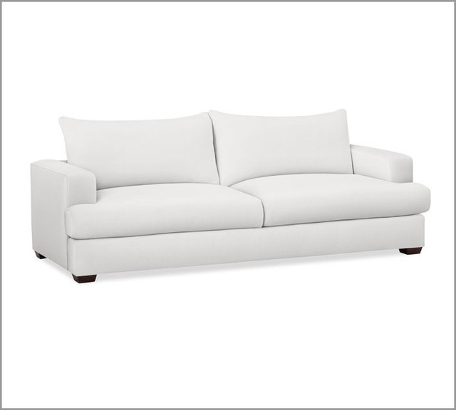 Hampton sofa white contemporary sofas by pottery barn - Contemporary furniture sectional and a sectional sofa ...