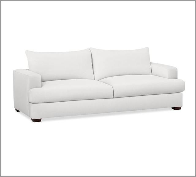 Hampton Sofa, White - Contemporary - Sofas - by Pottery Barn