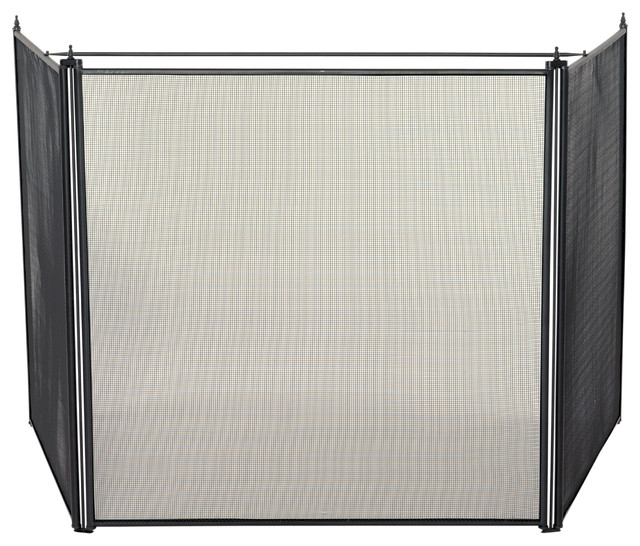 3 Fold Oversized Stove Screen Contemporary Fireplace Screens By Blue Rhino Uniflame