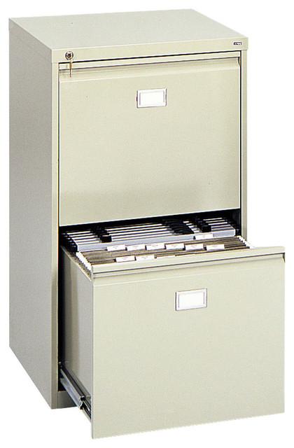 Drawer Vertical File Cabinet - Sand - Modern - Filing Cabinets