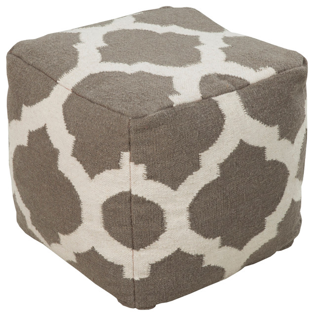 taupe moroccan tile pouf floor pillows and poufs chicago by belle and june. Black Bedroom Furniture Sets. Home Design Ideas