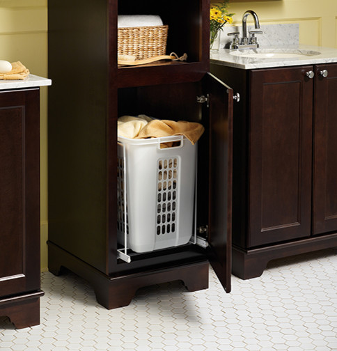 Laundry Hamper Pull Out Bathroom Vanities And Sink
