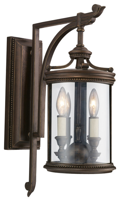 Fine Art Lamps Louvre Outdoor Wall Mount 542281ST Traditional Outdoor Wa